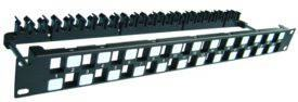 DINTEK Patch Panel Cat.6A UTP 1U 24P 19inch Snap-In (P/N: 1406-00011)