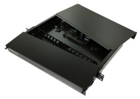 Dintek ODF 24 port Fiber optic enclosure, 19″ rackmount